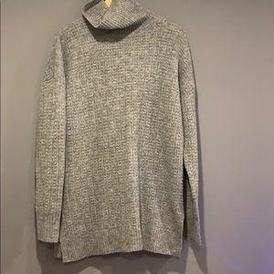 Theory women wool grey oversized sweater